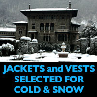 Insulated jackets and vests for big snow and cold