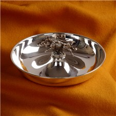 Beretta Silver Plated Round Bowl with Boar