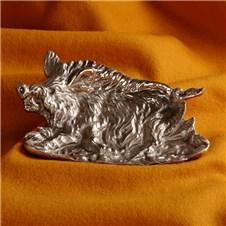 Beretta Silver Plated Tray Boar
