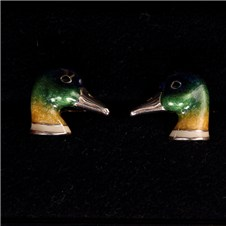 Beretta Duck Head Silver Cufflinks