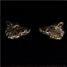 Beretta Boar Head Silver Cufflinks