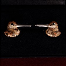 Beretta Woodcock Head Silver Cufflinks