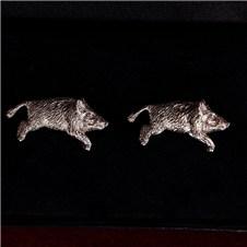 Beretta Running Boar Silver Cufflinks