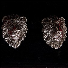 Beretta Lion Head Silver Cufflinks