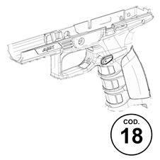 Ricambi APX Codice 18: Assieme Fusto (Nero)
