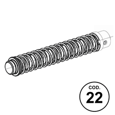 APX Spare Parts Code 22: Recoil Spring Assembly Cal. .40S&W