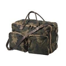 Beretta by Campomaggi Washed Canvas Camo & Leather Travel Bag