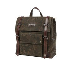 Beretta Camouflage Wax Canvas and Leather Backpack