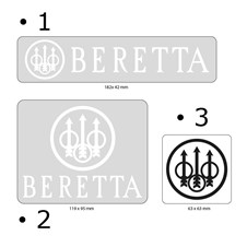 Set of 3 Beretta Logo Stickers