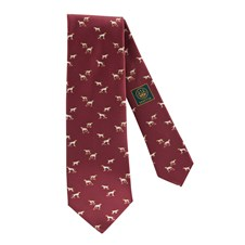 Beretta Printed Silk Tie with Dogs