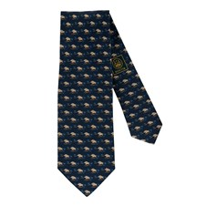Beretta Printed Silk Tie with Wild Boar