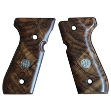 Beretta 92 Series Luxury Walnut Wood Grips w/ Trident Logo