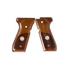 Beretta Wood Grips w/Medallion 92/96/98 Series