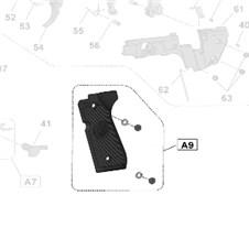 Plastic Grips for Beretta 92FS Cal.22LR