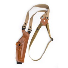Beretta Brown Leather Holster Model H - Shoulder Holster, Right Hand - 92/96/98