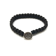 Bracelet Sterling Silver Logo - Black Color