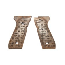 Wood grips set for 92 series - Logo Storm model