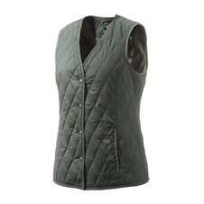 Tulip V Neck Quilted Vest Woman