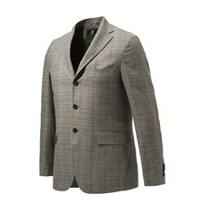 Beretta Giacca Classica In Seta E Lino Patch Jacket