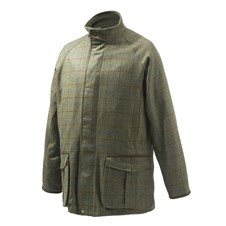 St James Coat Green Check