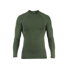 Seamless long-​sleeved vest in Dryarn Green (Size II = XL, XXL, 3XL)