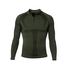 T-Shirt Long Sleeves Underwear with Zip