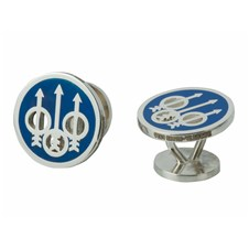 Beretta  Enamelled Blue Cufflinks