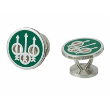 Beretta Enamelled Green Cufflinks