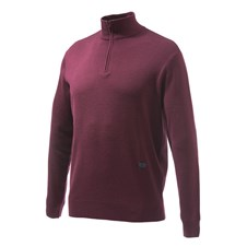 Light Merino Half Zip Sweater Bordeaux