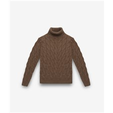 Beretta Turtle Neck Cable Knit Sweater