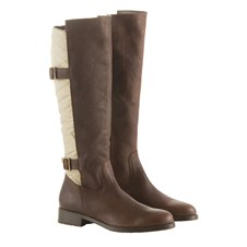 Beretta Leather Boots with Padded Back