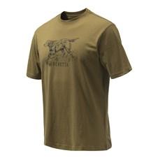 Beretta T-Shirt Da Caccia Con Stampa Incisione Setter