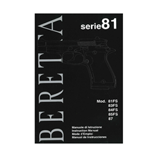 Beretta S81 Owner Manual (IT, ENG, FR, SP)