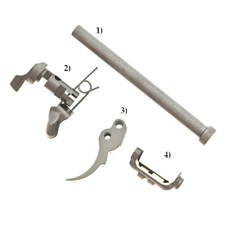 Beretta Factory 92/96 Stainless Steel Parts:Trigger, Safety Levers, Recoil Rod, Mag.Rel.