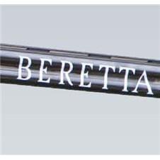 """Adesivo per canne fucile sovrapposto con scritta """"Beretta"""" colore bianco"""
