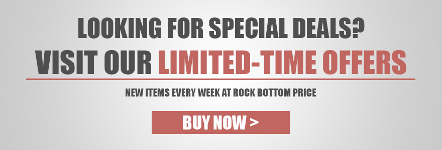 Limited time, rock bottom