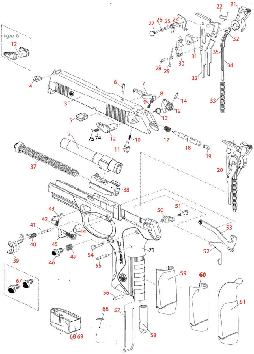 Exploded view PX4 series