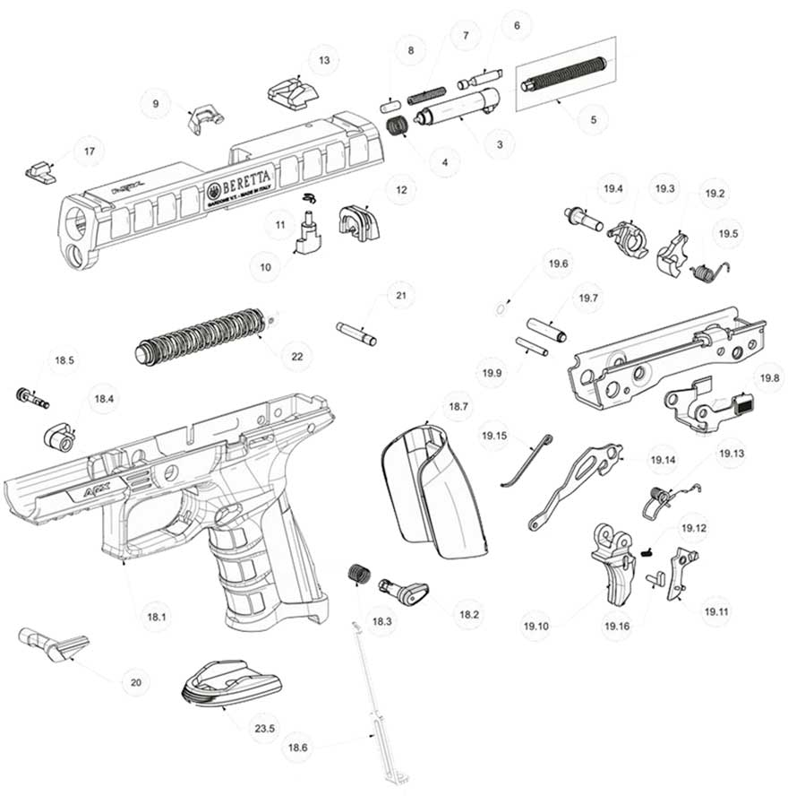 Exploded view APX series